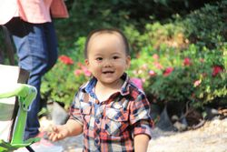 Child at Humble Administrator's Garden in Suzhou