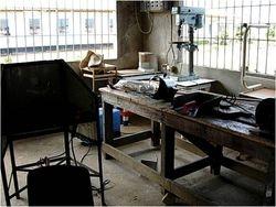 Het nieuwe ETO atelier met uitrusting