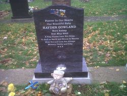 Bahama Blue Ogee top headstone