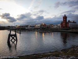 Cardiff at Sunset