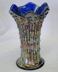 "April Showers 7"" squatty vase in blue"