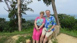 Lynda and Randy in Roatan, Honduras