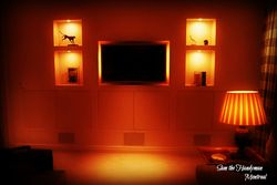 TV Wall mount and sconces installation