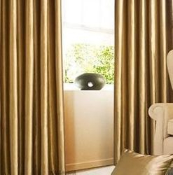 Gold Faux Silk Waterfall Valance Drapes and Curtains (FZ-03)
