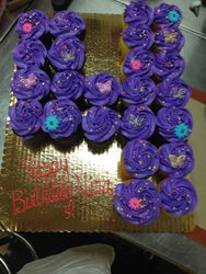 Cupcakes Shaped Number