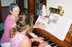 Julianne playing piano