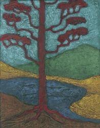 Red Ponderosa, Acrylic, 11x14, Original Sold