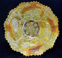 """Lions 7 1/2"""" plate, marigold"""