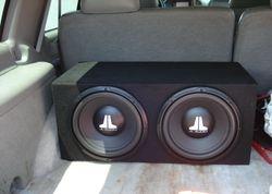 JL 12WXV2's in a prefab Box