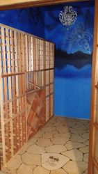 Wine Cellar Project Mural and Faux Stone Floor