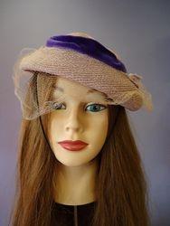 Vintage Lavender with Velvet Ribbon & Flowers