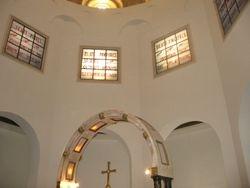 Interior de iglesia de las Bienaventuranzas