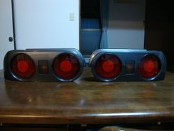 Gun Metal Grey Rear tail Lights