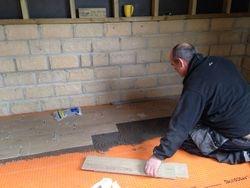 Garden Bar Floor Tiling
