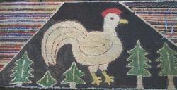 Antique Chicken rug