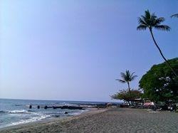 Hookena beach in Kona