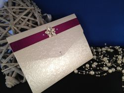 Wallet with Ribbon and Embellishment