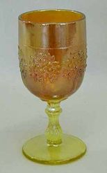 Orange Tree wine glass, vaseline