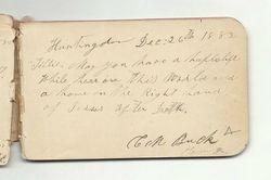 Autograph of Christian M. Buck - Dec. 26, 1882
