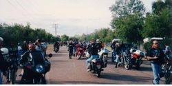 Forming up for the 1994 AGM Alice Springs parade - April 1994