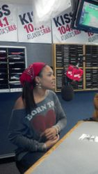 Demetria McKinney At 'Kiss 104.1' Radio Station on November 4, 2012