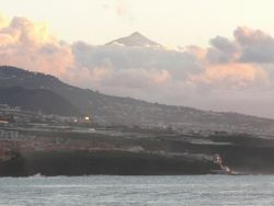 View from Bajamar to Teide