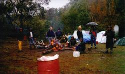 1999 Rain, but not really putting a damper on things.  Sunday am.