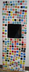 Mosaic tiles & mirror