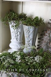 #23/046 Large collection Cast Iron Vases different styles