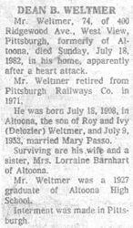 Weltmer, Dean 1982