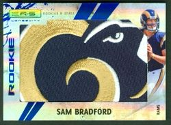2010 ROOKIES & STARS SAM BRADFORD RC JUMBO PATCH SP #1/1
