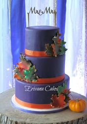 Fall themed wedding Cake 3