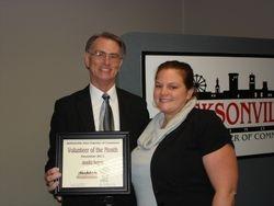Jennifer Sergent Volunteer of the Month!