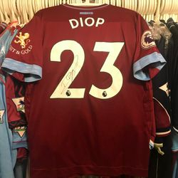 Issa Diop worn unwashed and signed 2018/19 home shirt
