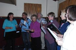Whittlesea Township Choir in the Recording Studio