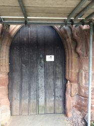 WREN notice on West Door