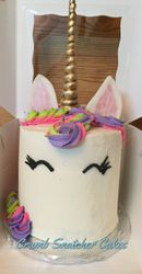 Unicorn themed cake