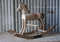 SOLD #26/152 SWEDISH WOODEN  HORSE SOLD
