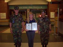 Promoted to 2d Lt Maureen Gerdvil & Membership Ribbon