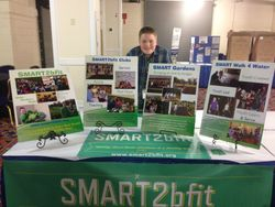 Carter presenting SMART2bfit at Monumetal's student showcase