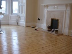 Floor refinishing and walls painting