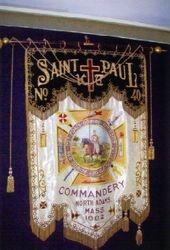 Elaborate banner of St. Paul