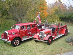 1961 Mack B 4 Door Sedan Pumper & 1936 Pirsch Pumper