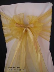 Gold wide with ribbon.