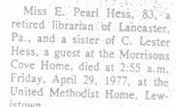 Hess, E. Pearl 1977