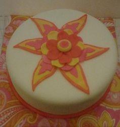 Paisly print cake