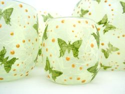 Apple Green and Olive Green Butterflies