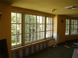 Replaced windows at the Elms Hotel