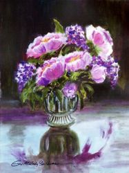 Roses and Lilacs - 2 (Portrait)