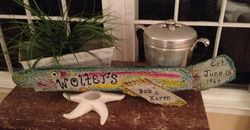 Anniversary Rainbow Trout sign
